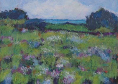 "Mary Kolada Scott ""Blooming Meadow"" mixed media, 11 x 14 in."