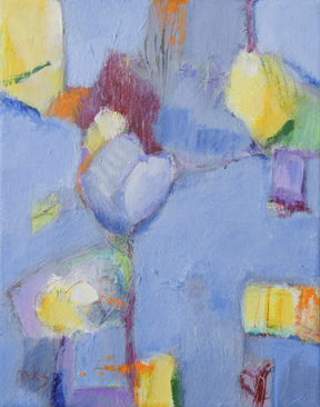 "Mary Kolada Scott ""More than Blues"" acrylic, 10 x 8 in."