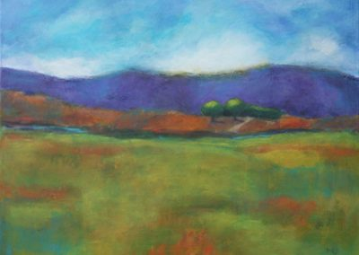 "Mary Kolada Scott ""Spring Meadow"" acrylic, 18 x 24 in."