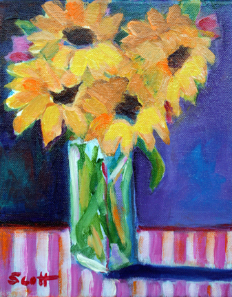 "Mary Kolada Scott ""Summer Sunflowers"""