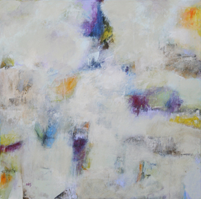 Mary Kolada Scott In Just-spring 24 x 24 in. mixed media