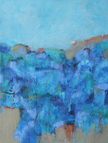 Mary Kolada Scott All Summer Long 24 x 18 in. mixed media on gallery wrapped canvas