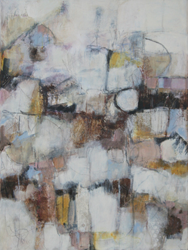 Mary Kolada Scott Sweet Spot 24 x 18 in. mixed media